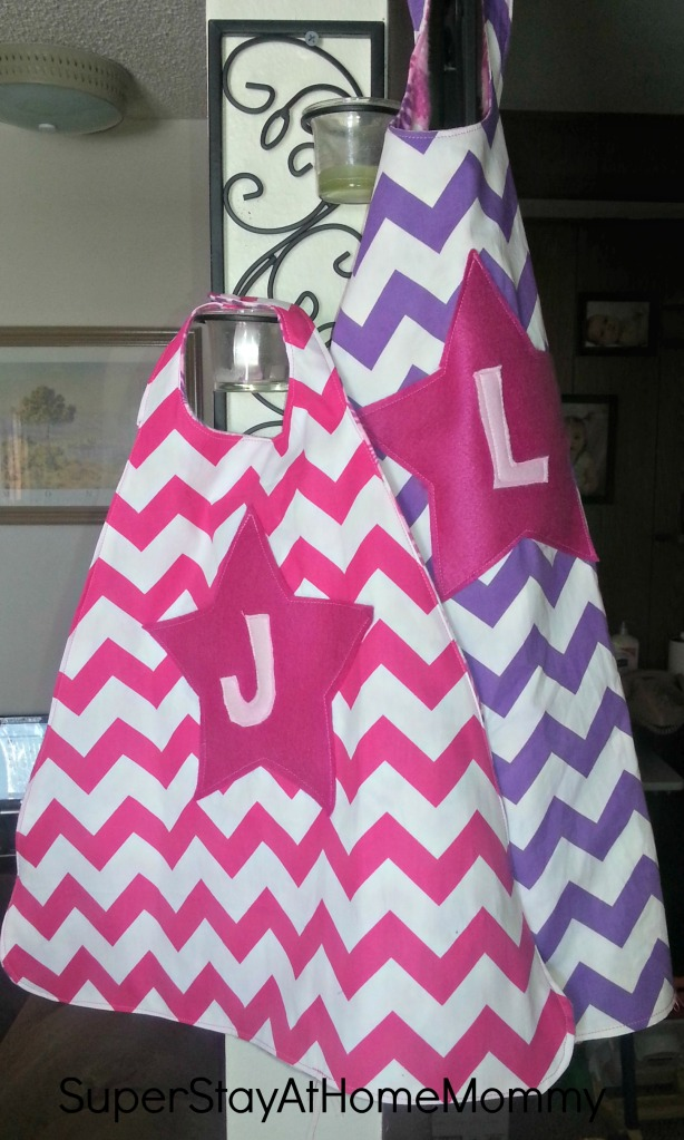 I think the chevron looks great! Linnaea has an eye for fabric already :)